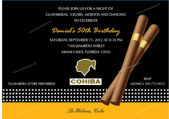 Cigar Box Label Party Invitation QTY 25100 Pricing