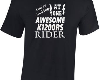 Awesome K1200RS Rider   T shirt  Funny Ideal Gift Biker personalised