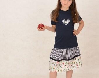 Bio-kids skirt amelie made of organic cotton tracht skirt