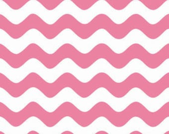 ONLY 4.00 per yard!  Riley Blake Wave in Hot Pink