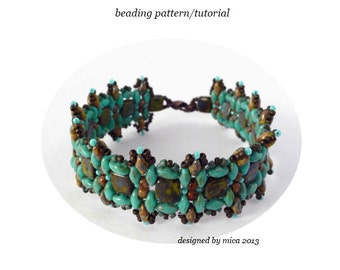 Calaeno Bracelet - Beading Pattern/Tutorial - PDF file for personal use only