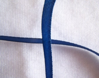 Satin ribbon, single sided, dark blue (S-038)