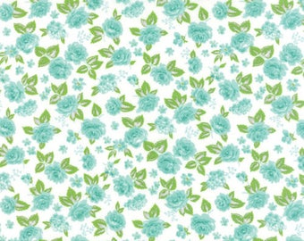Medium Berrilicious Blue Floral, Cream Background, Sew and Sew, Chloe's Closet, Moda (By YARD)~