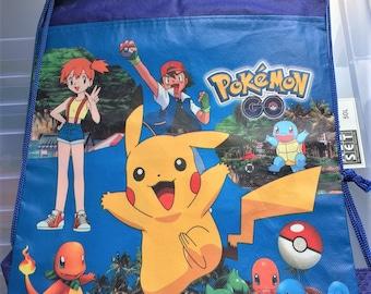 Pokemon Non-Woven Fabric Bag Drawstring Backpack School Bag Gift Bag