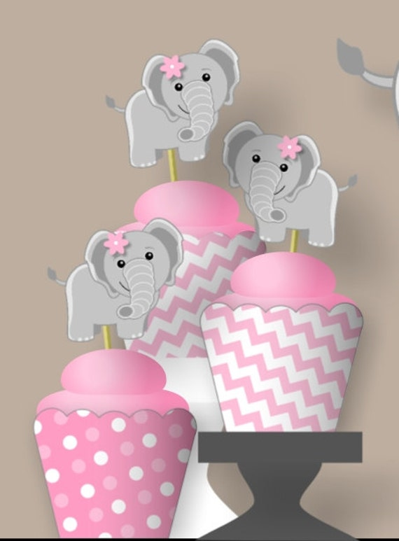 Pink Elephant 1st Birthday Party Or Baby Shower Decorations