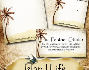 ISLAND LIFE•Custom Earring Cards•Labels•Earring Display•Clothing Tags•Custom Hang Tags•Boutique Card•Tags•Custom Tags•Custom Labels