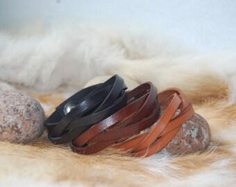 Braided leather bracelet slightly,for kids,for woman,for men,gift,custom,brown,black,red,green,purple,yellow