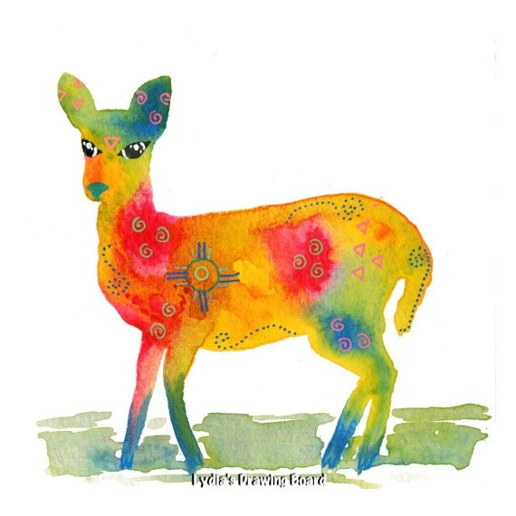 Spirit Animal, Deer, Woodland Animals, Woodland Creatures, Doe, Deer Art Print, Deer Art, Deer Artwork, Deer Wall Art, Deer Wall Decor