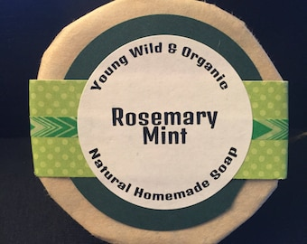 Rosemary Mint || Natural Goat's Milk Soap