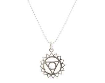 Throat Chakra Necklace in Sterling Silver, #6722