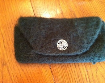 Hand knit felted clutch