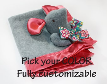 Mouse Security Blanket, Rat Baby blanket mouse baby blanket Lovey Blanket, Satin, Baby Blanket, Stuffed Animal, Baby Toy - Customize Color
