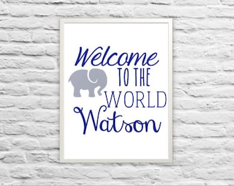 Welcome to the World {Nursery Art}