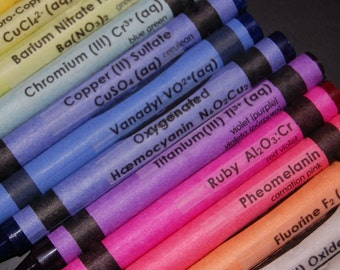 Chemistry Crayon CLEAR Labels - set of 48 SALE 25% OFF