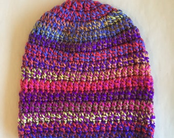 Handmade adult knitted hat