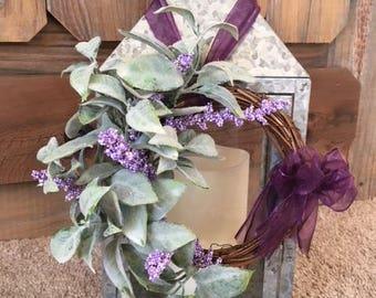 Lambs ear, Lavender mini Wreath