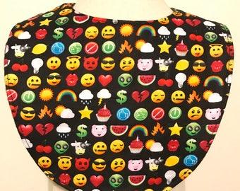 SALE emojis baby bib