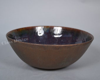 Bowl Studio ceramic  by Silvio Siermann - Germany - Heidelberg - signed