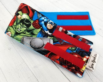 Male Dog Belly band - dog diaper - Washable & Reusable - Small to Large Sizes - Made from Marvel Avengers Fabric - SHIPS IN 1 DAY