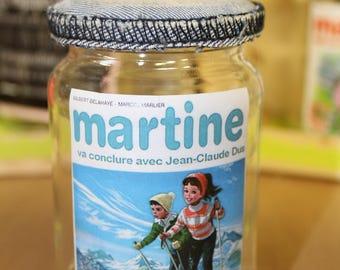 Recycled glass jars / too swag humor