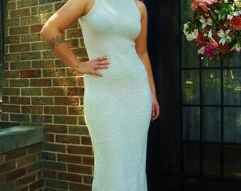 60s Metallic Knit Dress Designer Dress