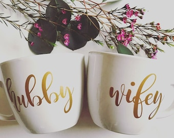 Hubby and Wifey Mugs