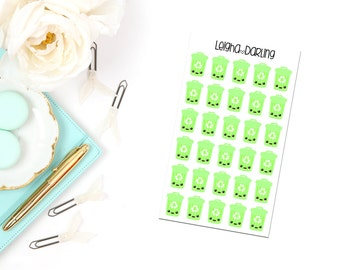 Recycling Planner Stickers