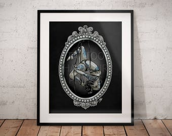 Rope Suspension Traditional Tattoo Poster Print