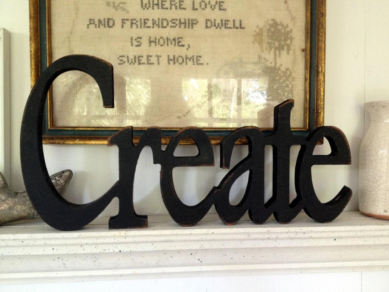 Create wood word create wood word Plaque Cutout create sign