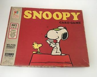 Vintage Milton Bradley Snoopy Card Game/Vintage Milton Bradley/Milton Snoopy/Vintage Board Game/Paper Craft Supply
