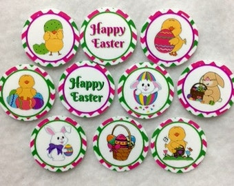 Set of 50/100/150/200 Personalized Easter 1 Inch Circle Confetti