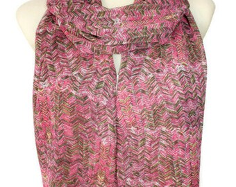Pink Scarf Womens Scarves Handmade Pink Scarfs and Wraps Geometric Scarf Spring Scarves for Women Gifts for Mom Gift, Mothers Day Gift