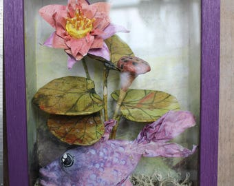 Purple fish window