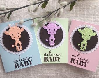 Welcome Baby Giraffe Card
