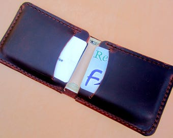 Personalized wallet leather, mens brown leather wallet, mens wallet annaversary gift, personalized gift bi-fold wallet, card wallet, wallet