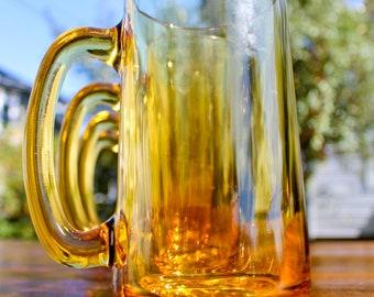 five heavy yellow beer mugs : stein lager dudes men drinking . butterbeer
