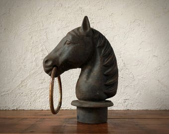 Hitching Post Horse Head, Horse Post Topper, Architectural Salvage