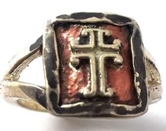 Ladies Cross Designed Hand made Ring