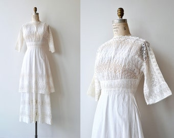 Thanet Villa dress | antique 1910s dress | white cotton Edwardian dress