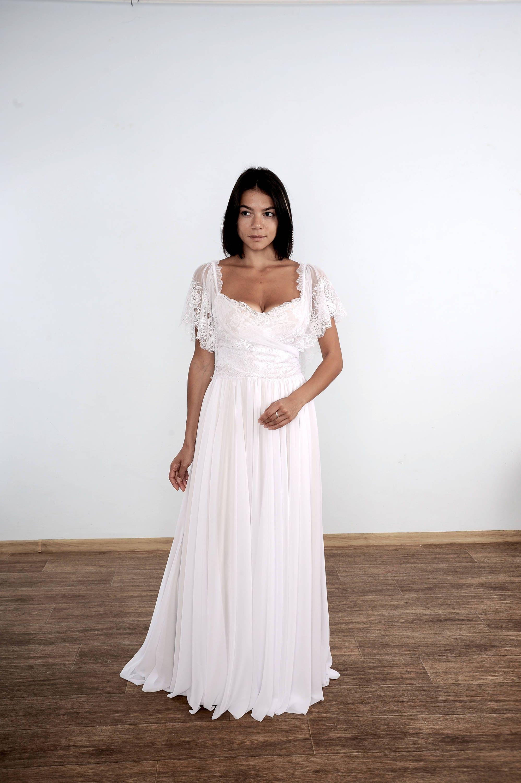 Schlichtes Brautkleid Boho Brautkleid Spitze Brautkleid