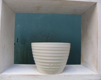 White Bowl for food or as a plant pot