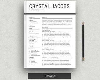 Professional resume templates by craftedresumes on etsy modern resume template for word cv template profressional resume design 2 page altavistaventures Choice Image