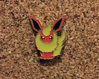 Pokemon Flareon Eeveelution Enamel Pin
