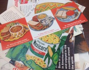 Vintage food paper pack