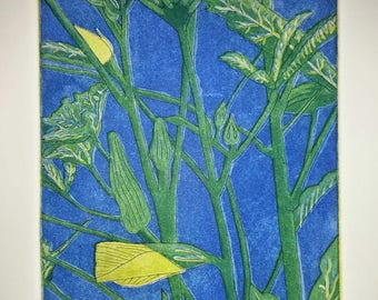 Okra - 3 Color Etching