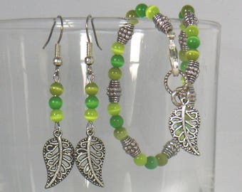 Three leaves and green duo set