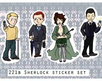 Sherlock sticker set