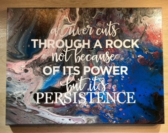 Acrylic Abstract Painting-Persistence- One of a kind!