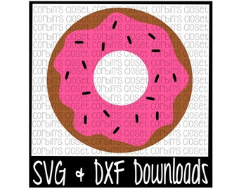 Donut Cutting File - DXF & SVG Files - Silhouette Cameo, Cricut