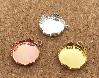 Charming 10pcs 15mm Crown Edge Bezel Tray, Bezel Pendant, Pendant Setting Nice Ideas